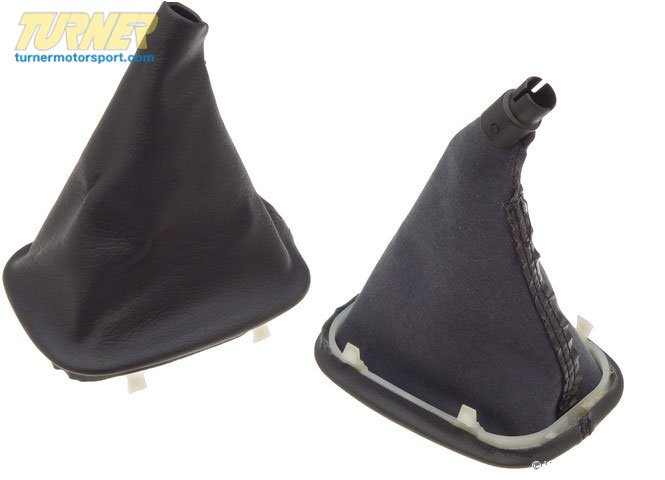 T#7618 - 25111208772 - Genuine BMW Imitation Leather Gear Lever Cover Schwarz - 25111208772 - Genuine BMW -