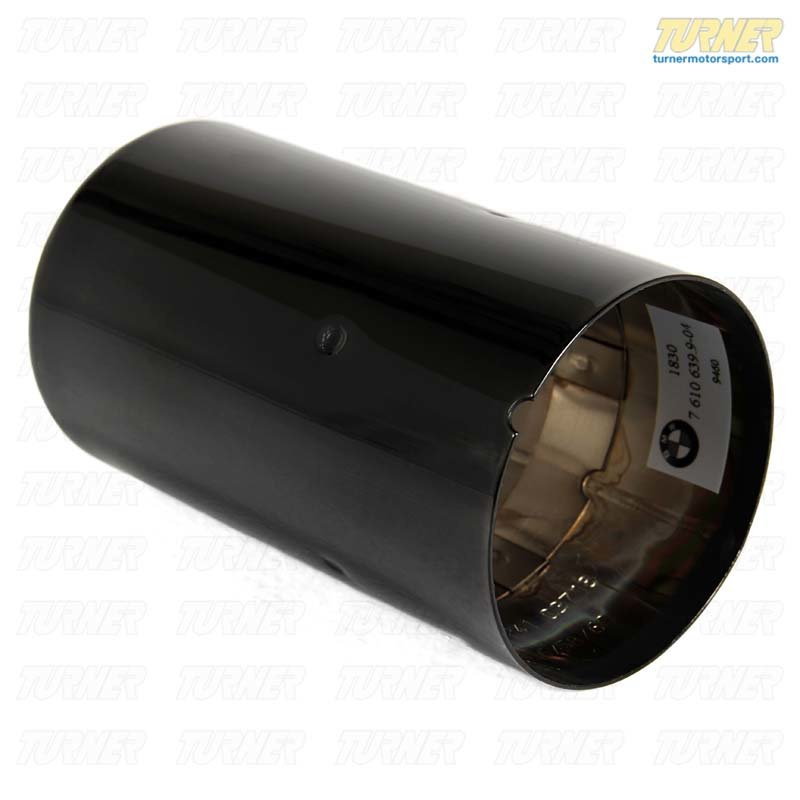 T#48540 - 18307610639 - Genuine BMW Black Chrome Exhaust Tip - F22 228i, F30 328i, F32 428i - Genuine BMW - BMW