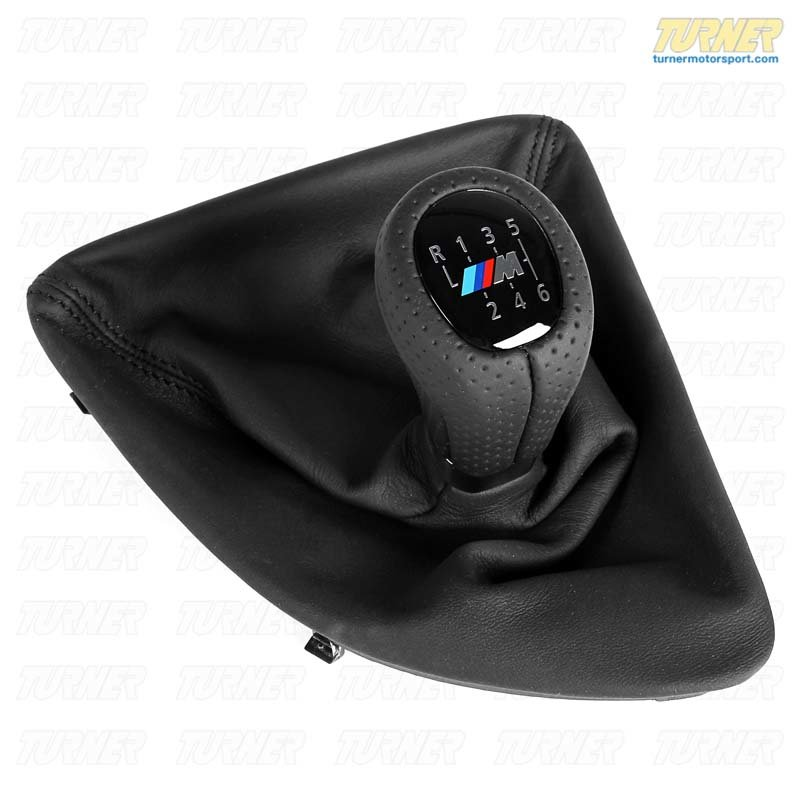 25118037304 Genuine Bmw Black Leather Shift Knob