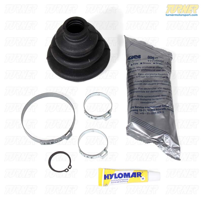 T#7942 - 33219067810 - Rear Axle CV Boot Repair Kit - E30 318i 325e 325i 325ix - GKN Drivetech - BMW