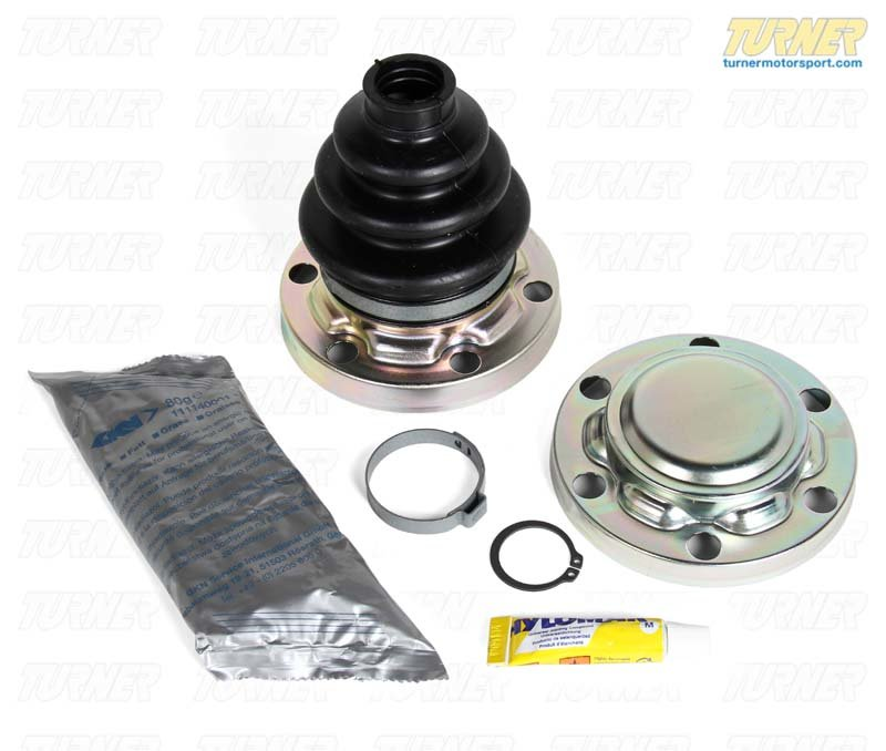 T#12275 - 33219067818 - Rear Axle CV Boot Repair Kit - Inner - E36 325i 325is, Z3 - Genuine BMW - BMW