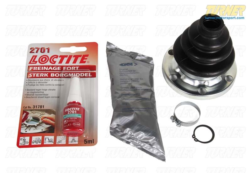 T#7944 - 33219067895 - Rear Axle CV Boot Repair Kit - E30 318i 325e 325i 325ix - GKN Drivetech - BMW