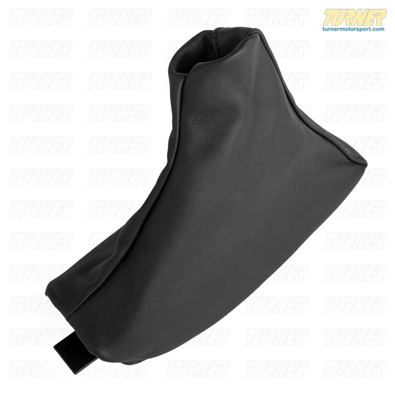 T#63575 - 34402498835 - Genuine BMW Leather Handbrake Lever Cover Schwarz - 34402498835 - E39 - Genuine BMW -