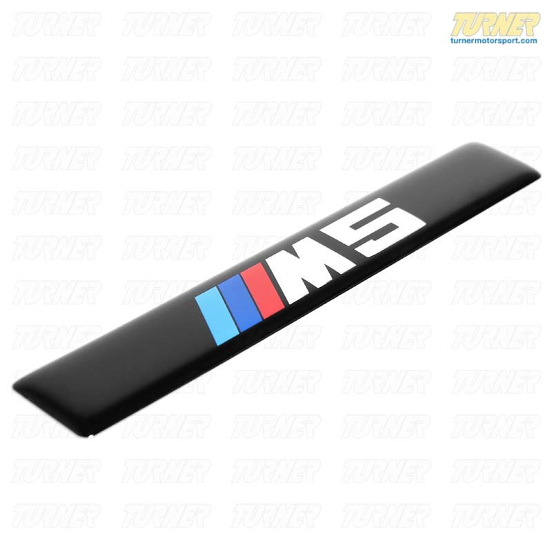 T#20990 - 51132496165 - Genuine BMW Side Molding Emblem - E39 M5 - 51132496165 - Genuine BMW - BMW