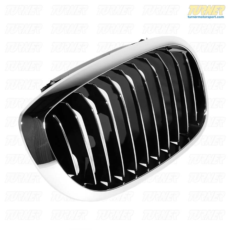 T#23560 - 51137064318 - Genuine BMW Grille Right Chrom - 51137064318 - E46 - Genuine BMW -