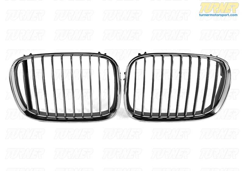T#20999 - 51138184531 - Genuine BMW Chrome Grill - Left - E39 540i  1997-2000 - Genuine BMW - BMW