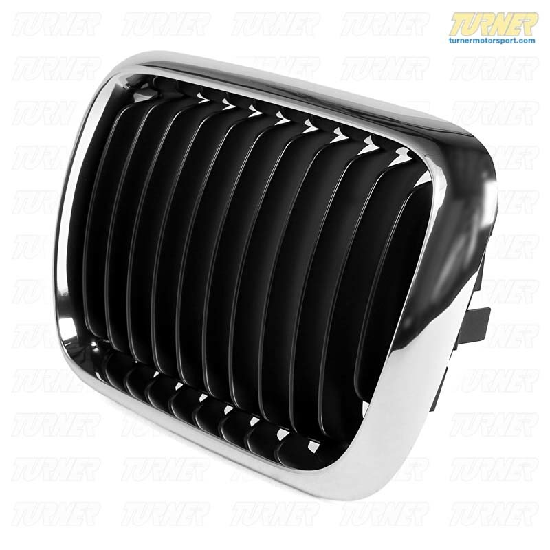 T#8766 - 51138195151 - Kidney Grill - Chrome - Left - E36 318i 323i 328i M3 97+ - Genuine BMW - BMW