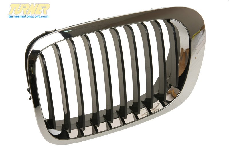 T#8790 - 51138208683 - Kidney Grill - Chrome w Black Slats - Left - E46 323Ci, 325Ci, 325Ci, 330Ci, M3 - Genuine BMW - BMW