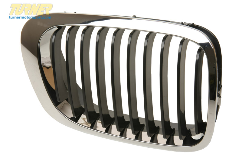 T#8791 - 51138208684 - Kidney Grill - Chrome w Black Slats - Right - E46 323Ci, 325Ci, 325Ci, 330Ci, M3 - Genuine BMW - BMW