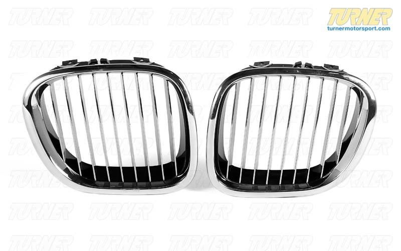 T#8813 - 51138412950 - Kidney Grill with Chrome Slats - Right - Z3 1997-2002 - Genuine BMW - BMW