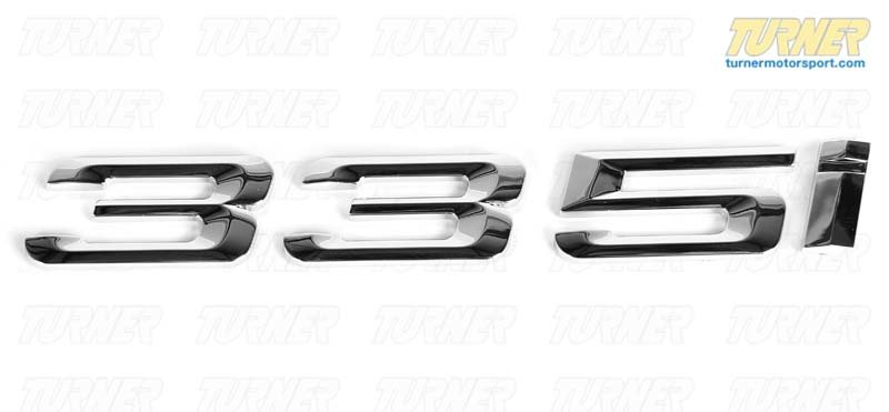T#81141 - 51147166218 - Genuine BMW Emblem Adhered Rear -335I - 51147166218 - E92,E93 - Genuine BMW - BMW