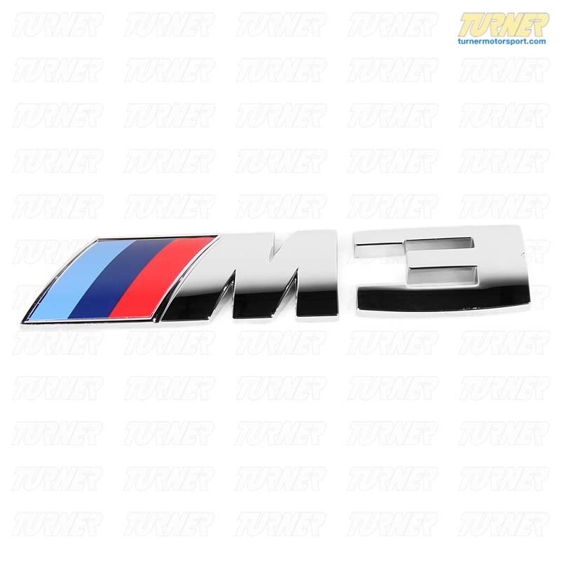 T#8871 - 51148041901 - E9x M3 Rear Motorsport Emblem - Genuine BMW - BMW