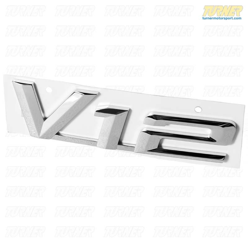 T#8886 - 51148175817 - V12 Emblem - Genuine BMW - BMW
