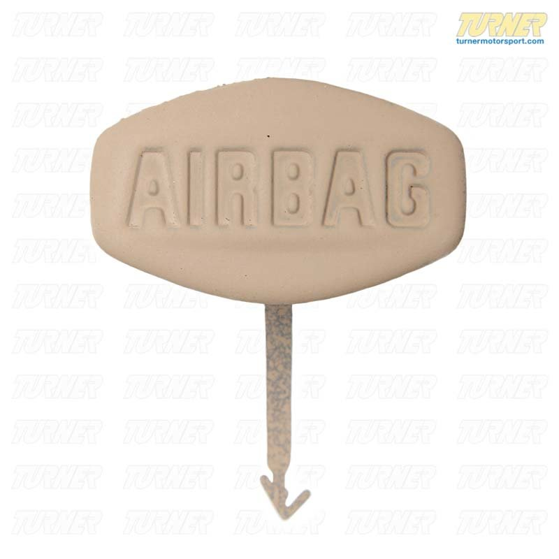 "T#9653 - 51417004436 - Genuine BMW Label ""Side Airbag"" Hellbeige 2 - 51417004436 - E53 - Genuine BMW -"