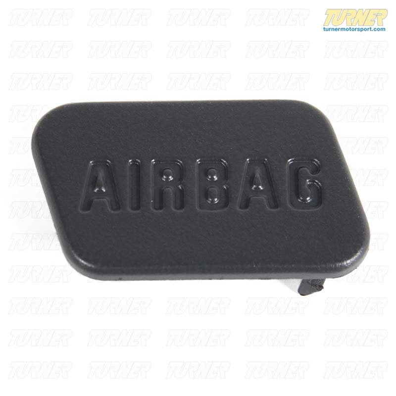 T#9654 - 51417028799 - SRS Airbag Door Emblem - Grey - Left - E36, Z3 - Genuine BMW - BMW