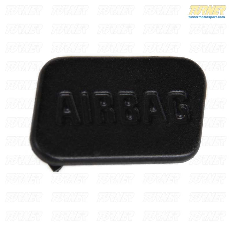T#9696 - 51418413216 - SRS Airbag Door Emblem - Black - Right - E36, Z3 - Genuine BMW - BMW