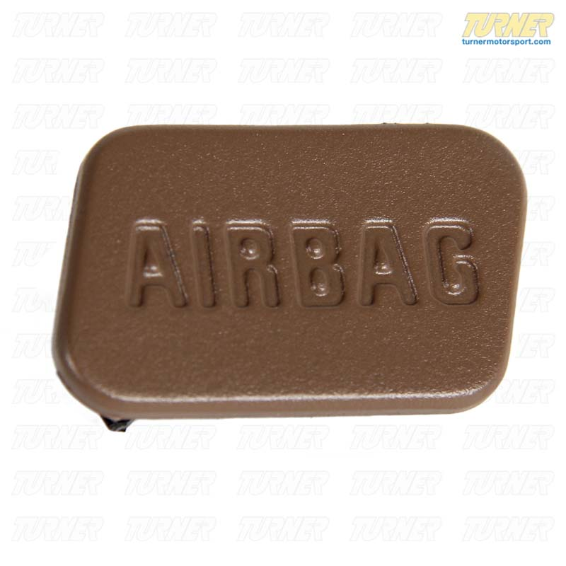 T#9698 - 51418413218 - SRS Airbag Door Emblem - Beige - Right - E36, Z3 - Genuine BMW - BMW
