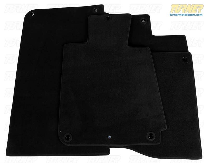T#110210 - 51471911407 - Genuine BMW Floor Mats - Black - E30 318i/is 325e/es 325i/is/ix M3 - Genuine BMW - BMW