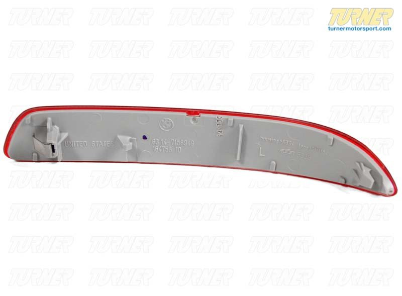 T#10963 - 63217158949 - Rear Left Bumper Reflector - Red - E70 X5 - Genuine BMW - BMW