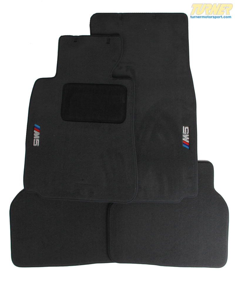 T#11339 - 82110009046 - Genuine BMW E39 M5 Logo Floor Mats - Black - Genuine BMW - BMW