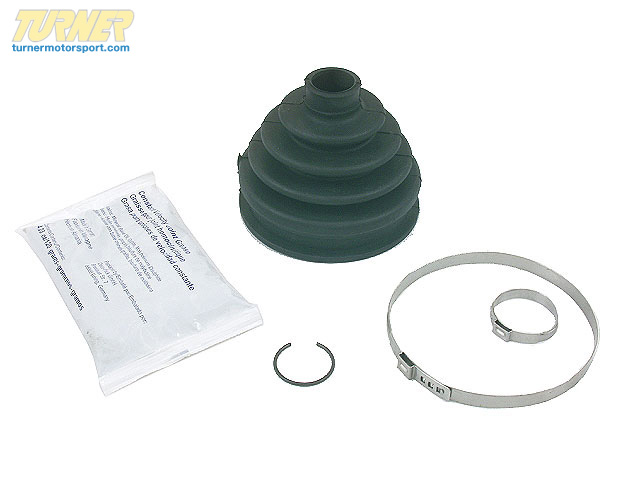 T#3245 - 31607507402 - Front Outer CV Boot Kit - E46xi, E53 X5 - Rein - BMW
