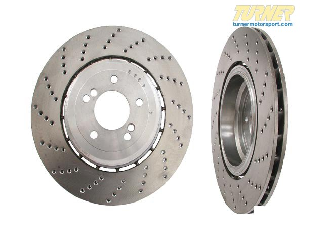 T#2535 - 34212282808 - Rear Right Brake Rotor -  E60 M5 and E63 M6 - Genuine BMW -
