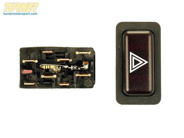 T#12392 - 61311367340 - Genuine BMW Hazard Warning Switch - 61311367340 - E30,E30 M3 - Genuine BMW -