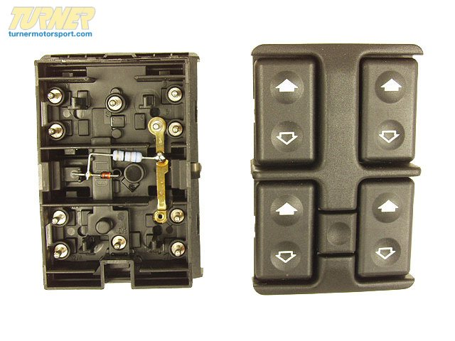 T#10555 - 61311379075 - Genuine BMW Switch Combination Electr.Wind.Lift. - 61311379075 - E34 - Genuine BMW -
