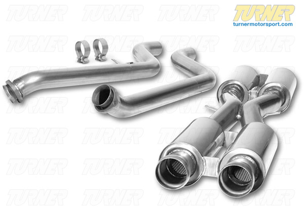 T#2212 - 60506 - E9X M3 Borla Racing Test Pipes With Resonators (Cat Delete) - Borla - BMW
