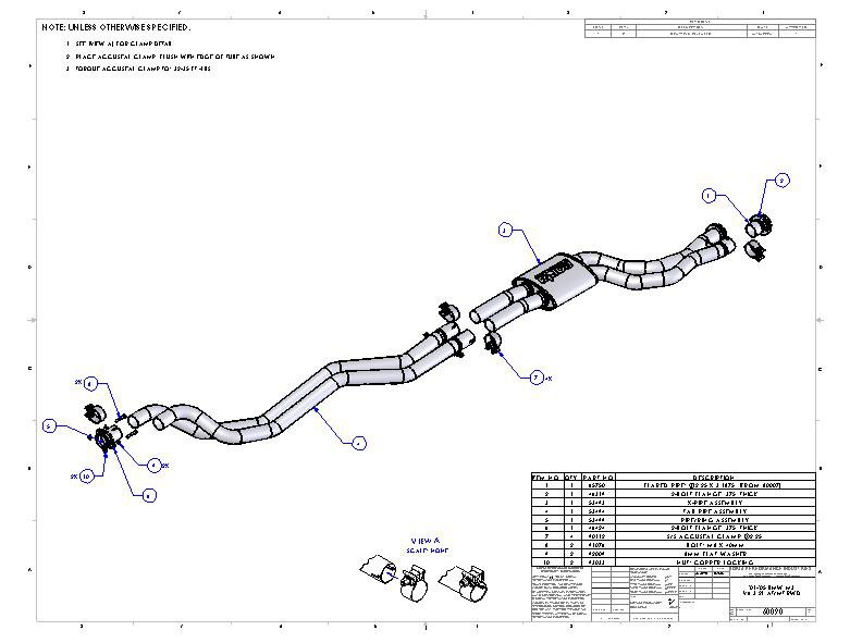T#4171 - TMS4171 - E46 M3 Borla Complete Exhaust - Cat-Back Section 1, Section 2, Mufflers (Round Tips) - Borla - BMW