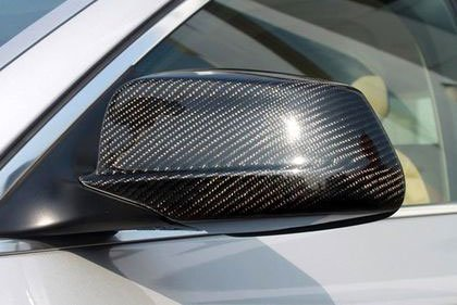 T#14332 - 51162167294-295 - Genuine BMW Carbon Fiber Mirror Covers - E60 E63 F01 F10 F12 - Genuine BMW - BMW