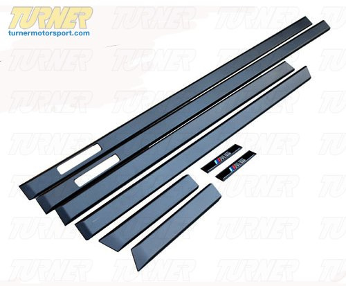 T#338723 - 004500ECS01 - Side Molding Set - E39 M5 style - Fits all E39 - Turner Motorsport - BMW