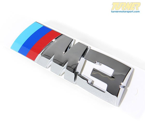 T#4470 - 51147893655 - E46 M3 Rear Motorsport Emblem - Genuine BMW - BMW