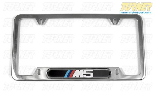 T#119 - 82120149104 - M5 License Plate Frame Silver Polished - Genuine BMW - BMW
