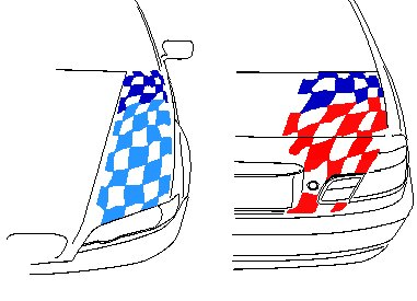 T#3396 - TMS3396 - Motorsport Flag Decal Set (E46 Coupe, M3) - Turner Motorsport - BMW