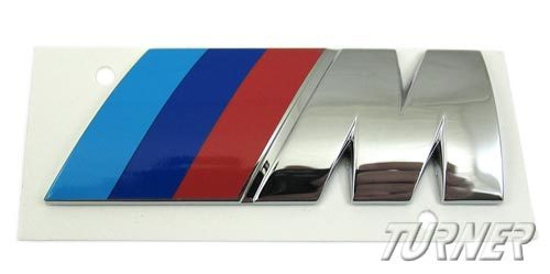T#375 - 51142694404 - Motorsport ///M Rear Emblem - Genuine BMW - BMW