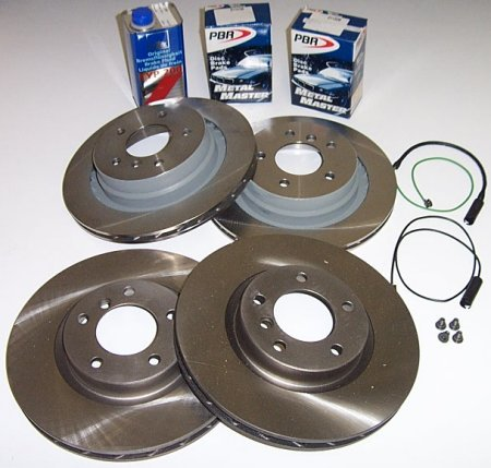 T#1779 - TMS1779 - Z3 3.0 Roadster & Coupe Brake Package (Front & Rear) - Packaged by Turner -