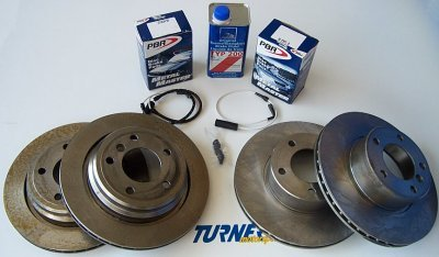 T#12212 - TMS12212 - Complete Front & Rear Brake Package for E53 X5 4.4i 04-06 - Packaged by Turner -