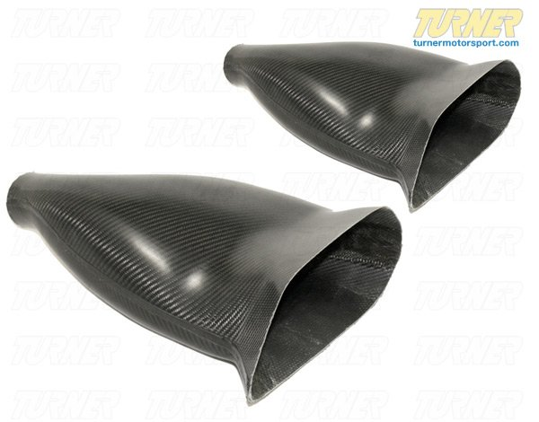 T#2506 - TBR4660777 - E46 M3 Turner Motorsport Carbon Fiber Racing Brake Ducts (Pair) - Turner Motorsport - BMW