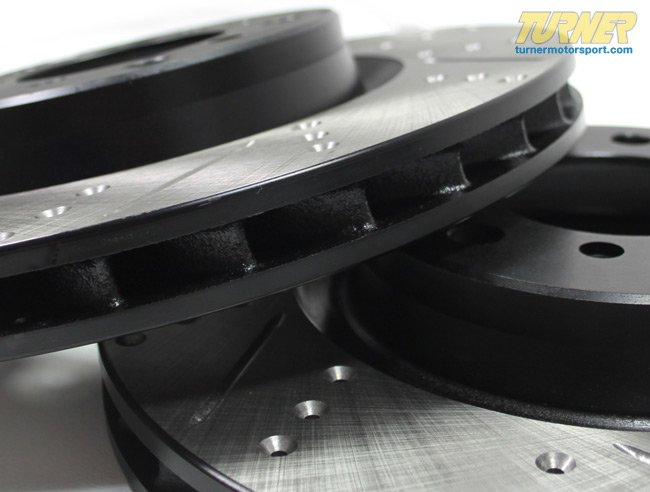 T#12022 - 34101166071CDS - Cross-Drilled & Slotted Brake Rotors - Front - E46 330i, Z4 3.0Si (pair) - StopTech - BMW