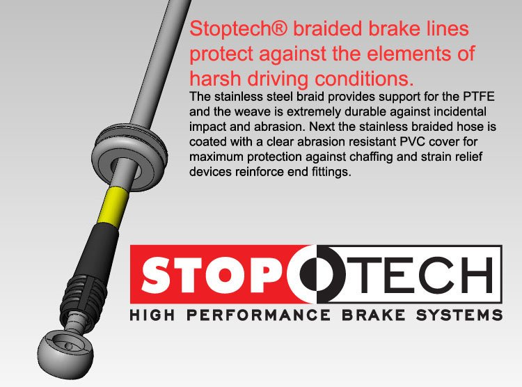 T#3817 - PLB323106D - E30 Stainless-Steel Brake Line Set - DOT-approved - StopTech - BMW