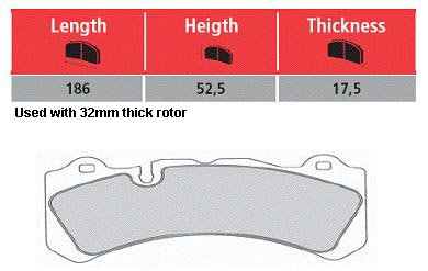 T#16494 - TMS16494 - Brembo Calipers Monobloc M - Race Brake Pad Set - Hawk DTC-70 - Hawk - BMW