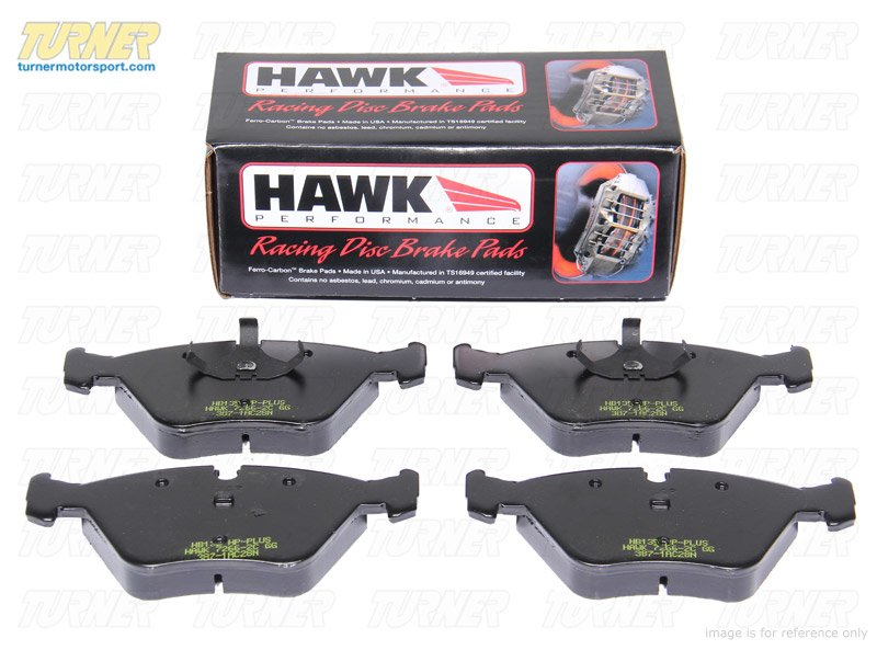 T#1028 - TMS1028 - Hawk HP Plus Track/Street Brake Pads - Front - E36 (not M3), E46 (not 330/M3), Z3 (not M), Z4 2.5/3.0 - Hawk - BMW