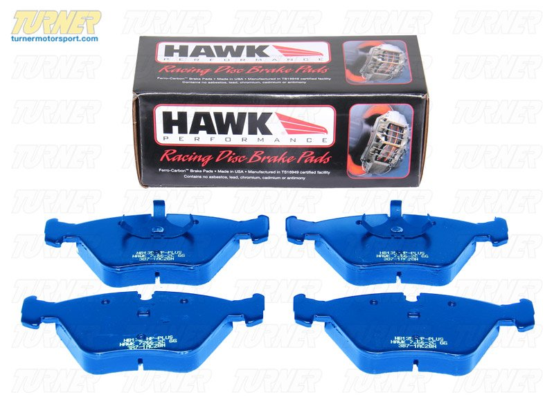 T#3988 - TMS3988 - Hawk Blue Racing Brake Pads - Rear - E30 M3, E36 all, E36 M3, E39 (not M5), E46 (not 330/M3), Z3 all, MZ3, Z4 2.5/3.0 (incl 3.0si) - Hawk - BMW