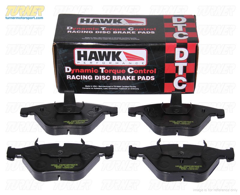 T#6063 - TMS6063 - Hawk DTC-70 Race Brake Pads - Rear - E82 128, E9X - Hawk - BMW