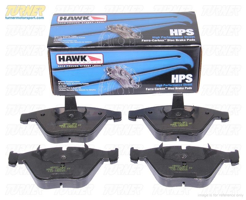 T#1305 - TMS1305 - Hawk HPS Street Brake Pads - Rear - MINI Cooper & Cooper S (2002-2006) - Hawk - MINI