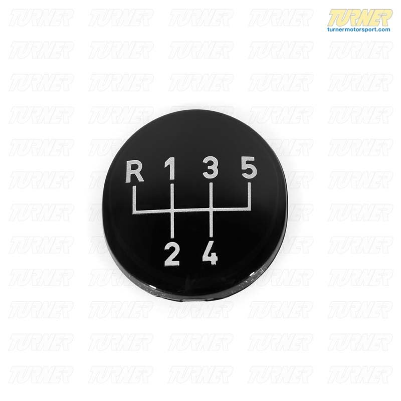 T#22716 - 25111221611 - Genuine BMW Shift Knob Emblem - 5 Speed -  E30 E36 E34 - 25111221611 - Genuine BMW -