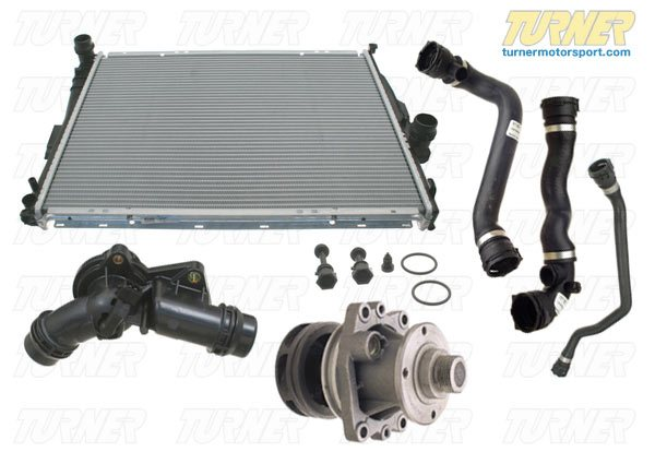 T#14415 - TMS14415 - Complete Cooling System Overhaul Package - 1999-2003 E39 525i 528i 530i - Packaged by Turner -