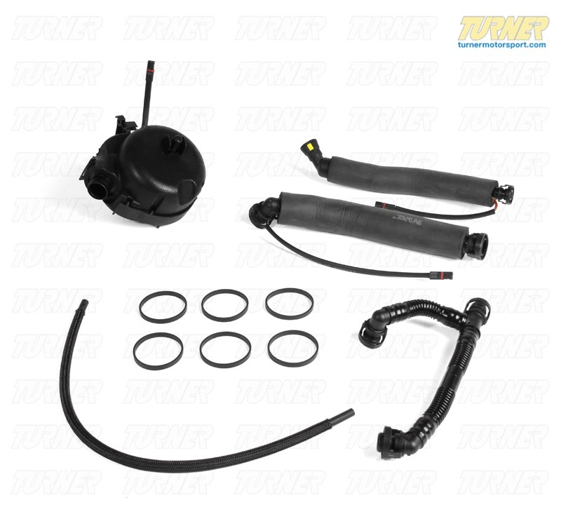 T#221962 - TMS221962 - Crankcase Oil Separator and Vent Hose Kit - E90 325xi/330xi, E60 525xi/530xi (Early Production) - Packaged by Turner - BMW