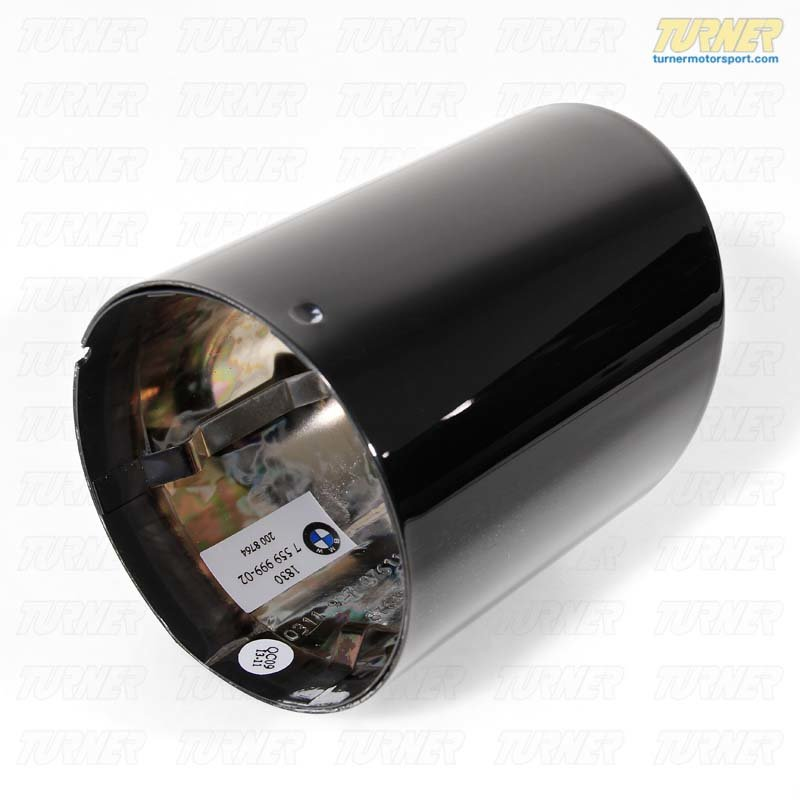 T#1247 - 18307559999 - Genuine BMW Black Chrome Exhaust Tip - E82 E88 135i - Genuine BMW - BMW